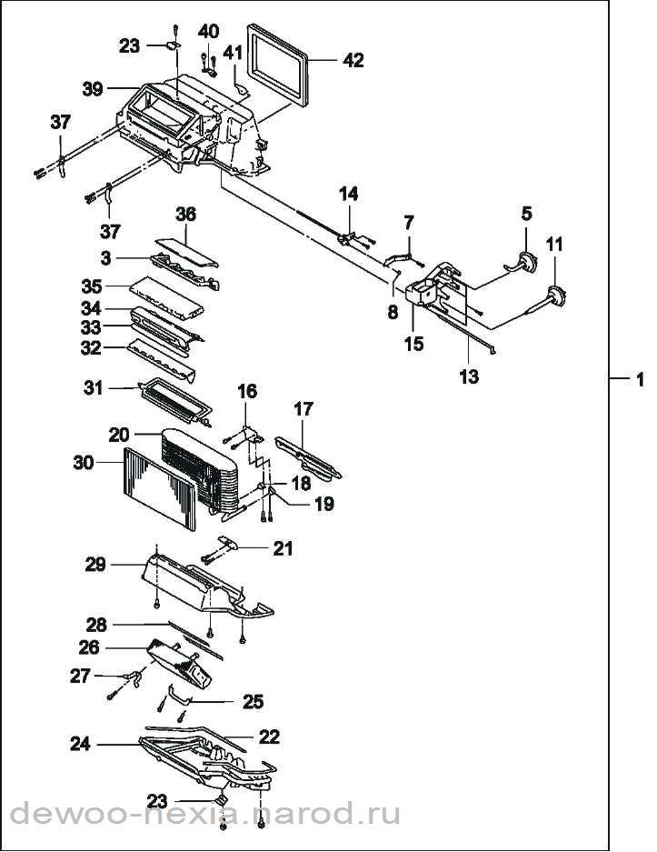 Схема печки отопления дэу нексия